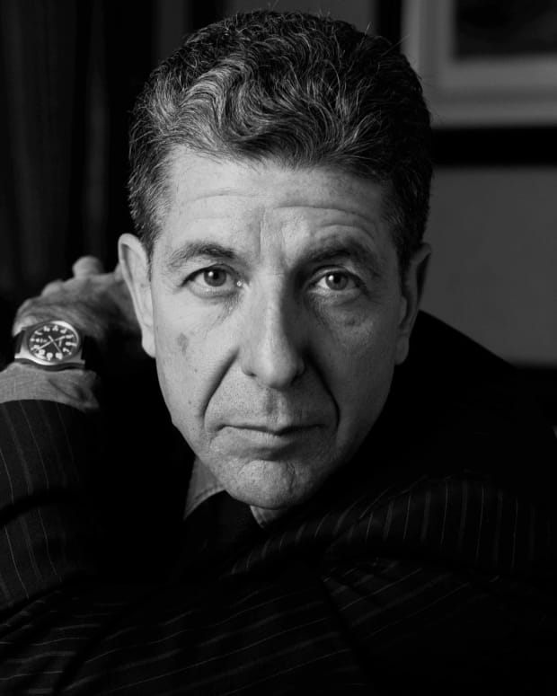 Leonard Cohen photo via Getty Images