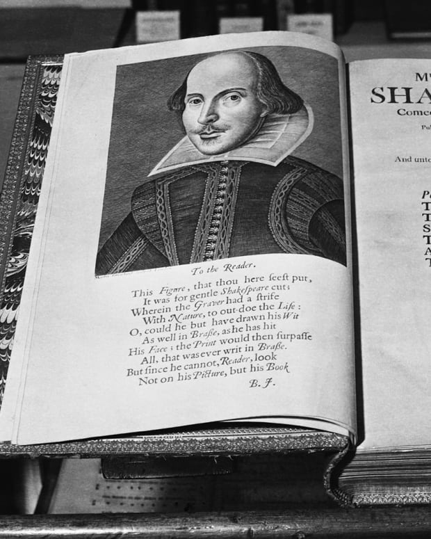 Antique Dealers' Fair a copy of the third Folio edition of Shakespeare.