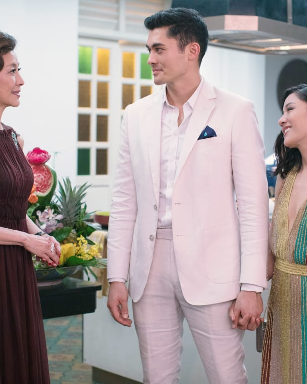 Michelle Yeoh, Henry Golding, Constance Wu in Crazy Rich Asians