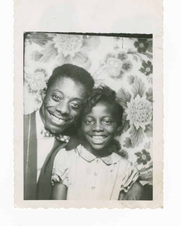 James Baldwin and Sister Photo