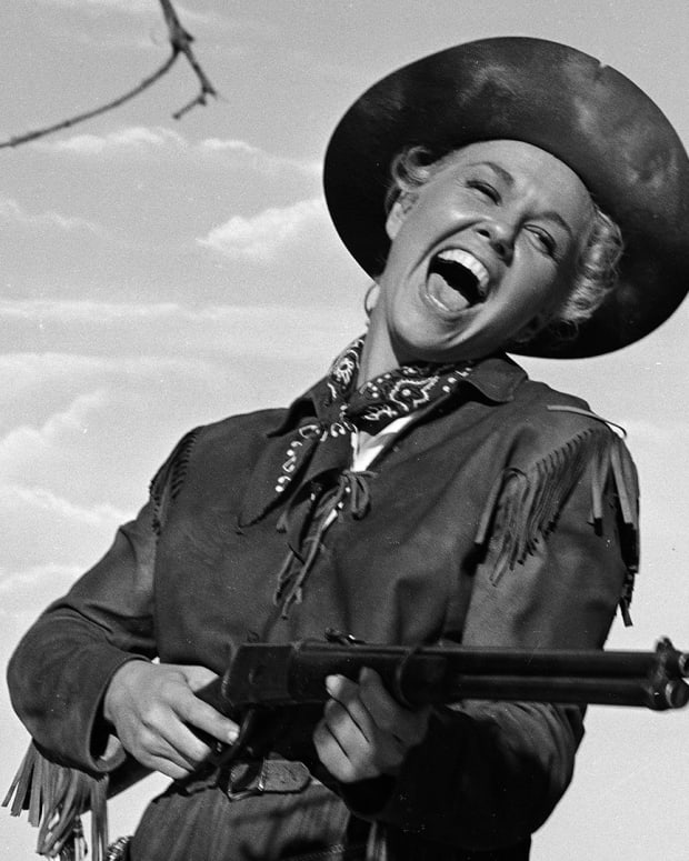 Doris Day on the set of Calamity Jane