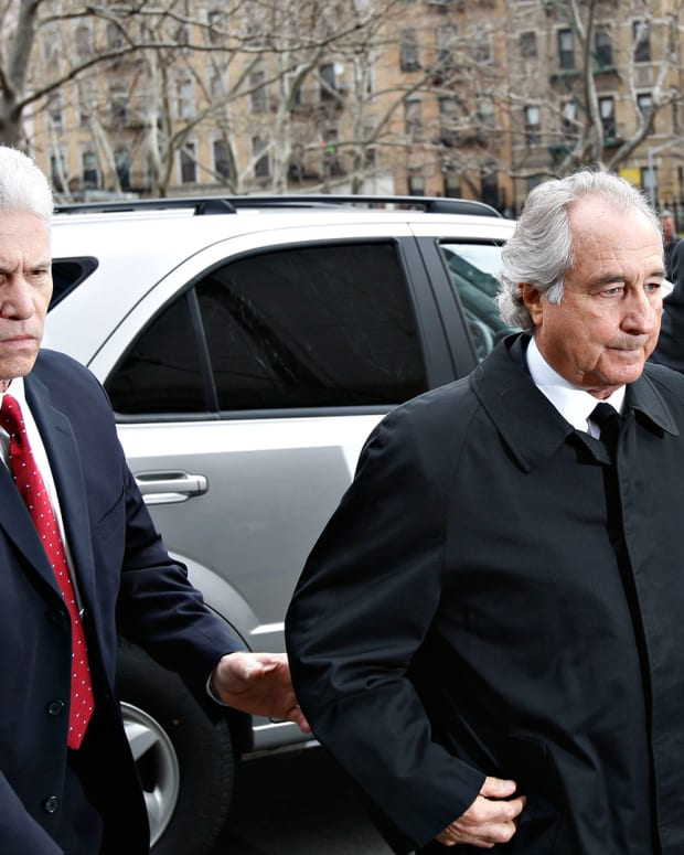 Bernie Madoff arrives at Federal court in New York