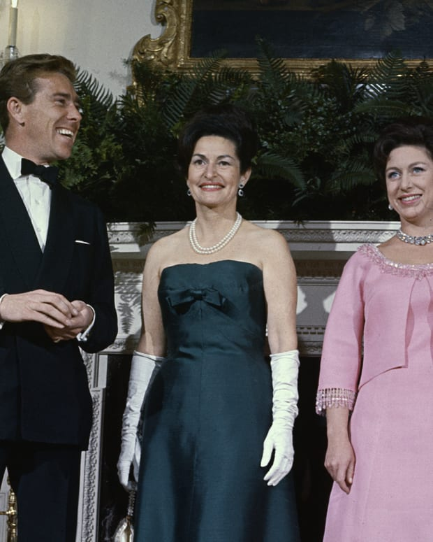 President Lyndon Johnson, Princess Margaret, Lady Bird Johnson, and Lord Snowdon