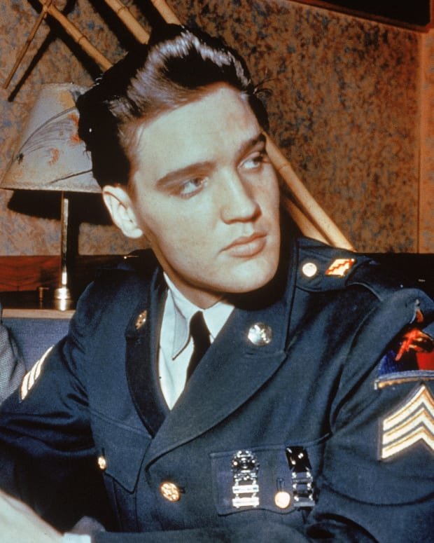 Elvis Presley in his US Army Uniform