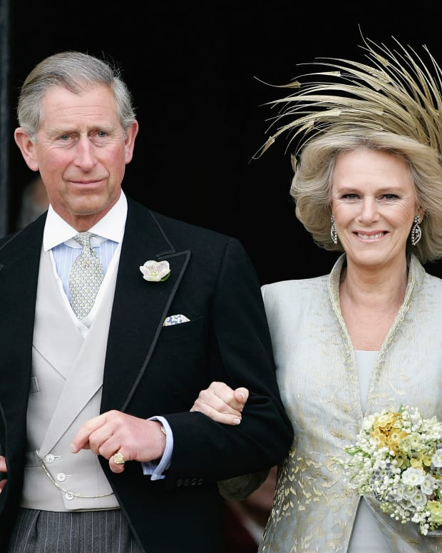 Camilla and Charles marriage at Windsor Castle on April 9, 2005
