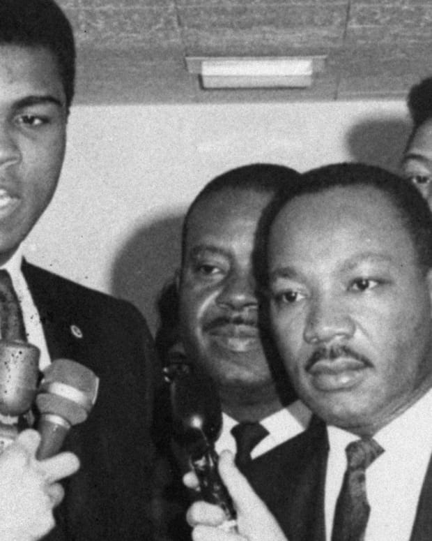 Muhammad Ali and Martin Luther King Jr.