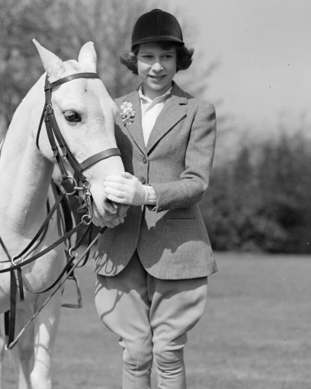 Princess Elizabeth with a pony