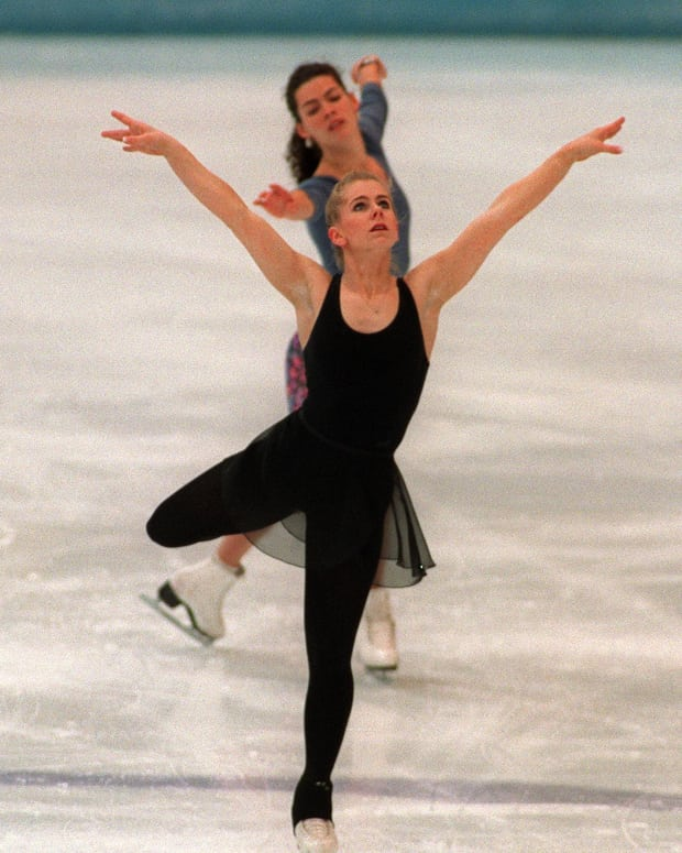 Tonya Harding and Nancy Kerrigan at the XVII Winter Olympic Games