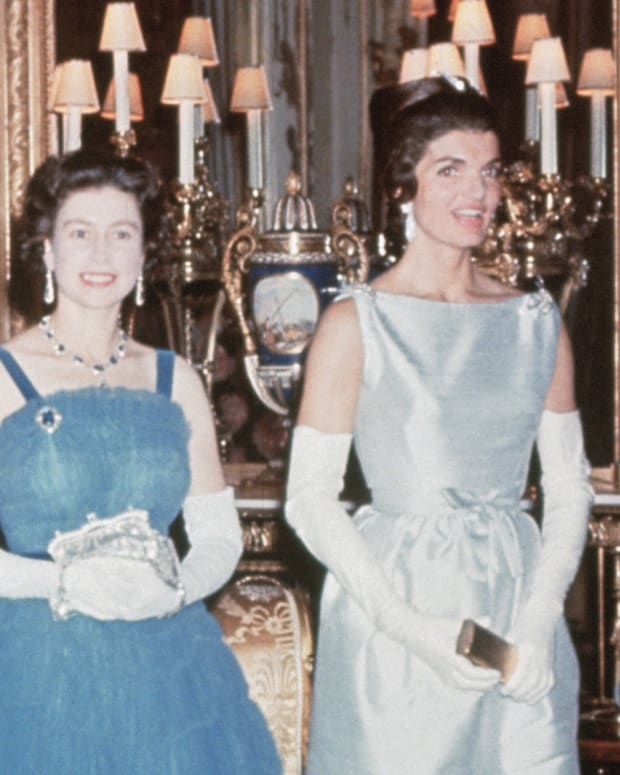 John F. Kennedy, Jackie Kennedy, Queen Elizabeth II and Prince Philip