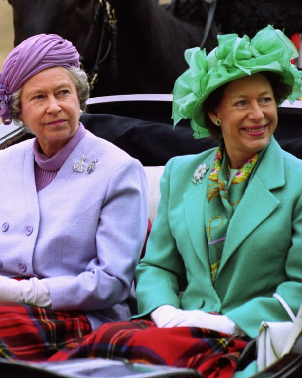 Queen Elizabeth II and Princess Margaret