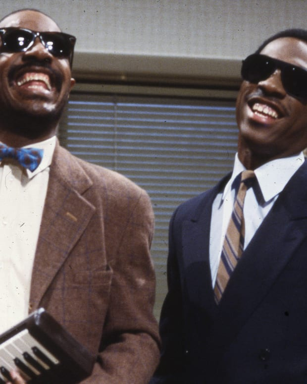 Stevie Wonder and Eddie Murphy