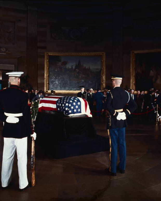 Soldiers Guarding Casket of J. Edgar Hoover