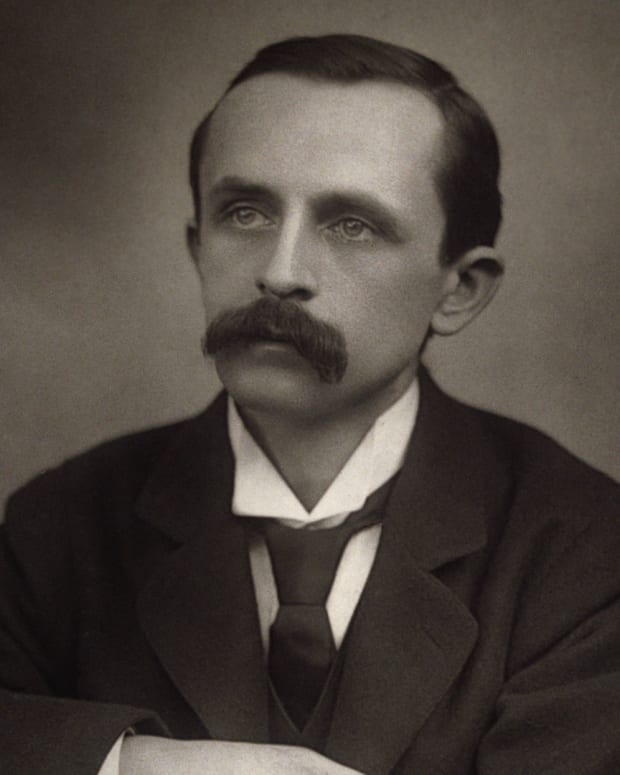 J.M. Barrie, author of Peter Pan
