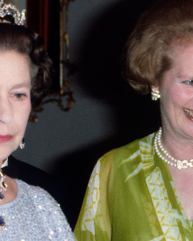 Queen Elizabeth II and Margaret Thatcher