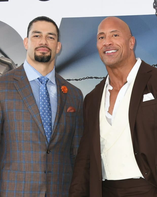 Roman Reigns Dwayne The Rock Johnson