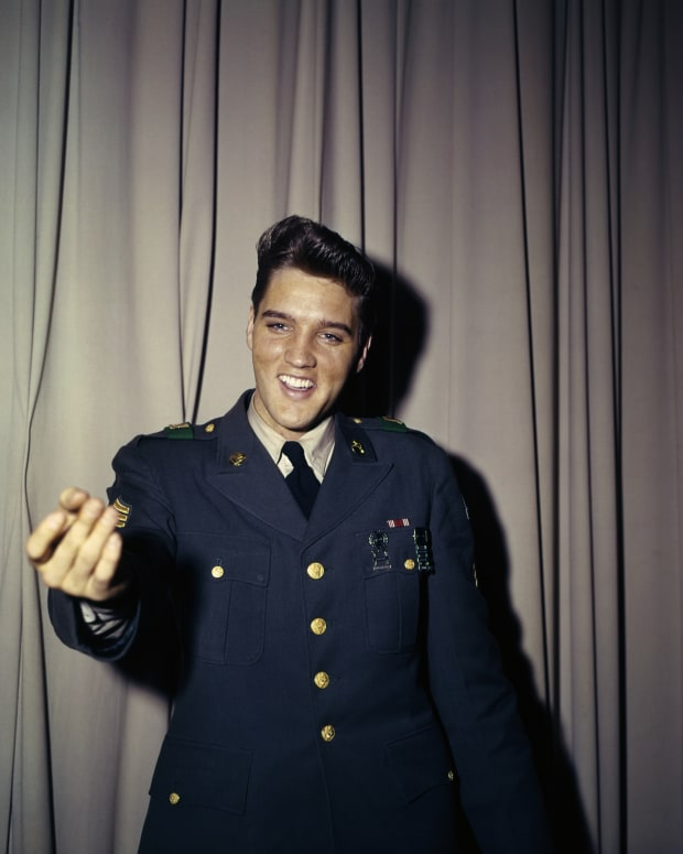 Elvis Presely in his Army Uniform