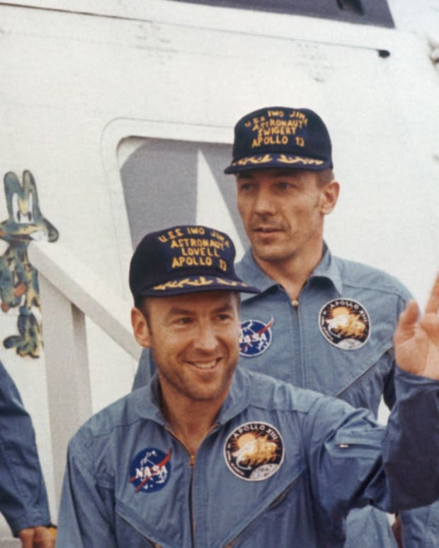 Fred Haise, James Lovell and John Swigert Apollo 13