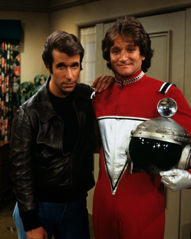 Henry Winkler Robin Williams Mork Happy Days