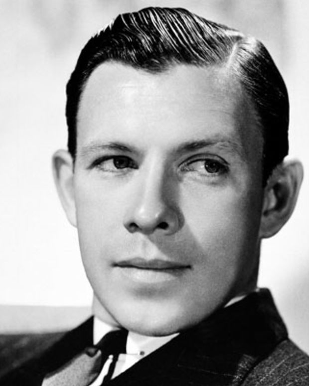George Murphy shown in 1937, former stage star of Broadway, has become Hollywood's newest male dancing favorite. He is dancing with Eleanor Powell in M-G-M's Broadway Melody of 1938? in which Miss Powell co-stars with Robert Taylor. Murphy, former Yale University athlete, is the son of the late Mike Murphy, famed for having coached six American Olympic teams. Murphy is a singer as well as a dancer. (AP Photo)