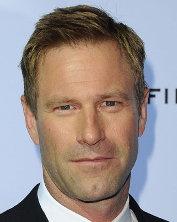 LOS ANGELES, CA - OCTOBER 13:  Actor Aaron Eckhart arrives at 'The Rum Diary' premiere presented by Film Independent at LACMA held at the Los Angeles County Museum of Art on October 13, 2011 in Los Angeles, California.  (Photo by Jason Merritt/Getty Images)