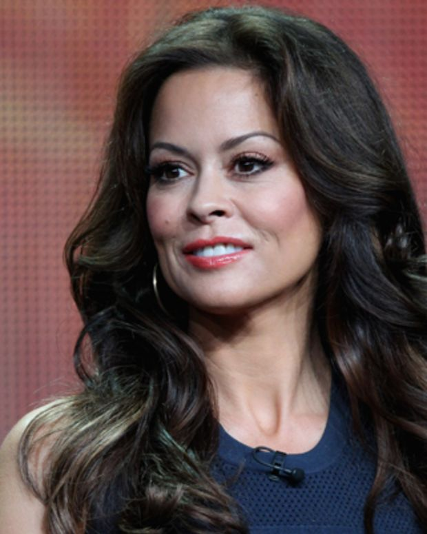 BEVERLY HILLS, CA - JULY 27:  Host Brooke Burke-Charvet speaks onstage at the 'Dancing with the Stars: All-Stars' panel during the Disney/ABC Television Group portion of the 2012 Summer TCA Tour on July 27, 2012 in Beverly Hills, California.  (Photo by Frederick M. Brown/Getty Images)