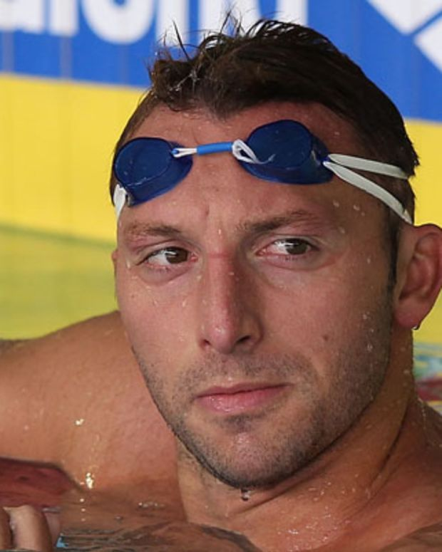 SINGAPORE - NOVEMBER 03:  Ian Thorpe of Australia swims during the Australian swim team training session ahead of the 2011 FINA World Cup at Singapore Sports School on November 3, 2011 in Singapore.  (Photo by Chris McGrath/Getty Images)