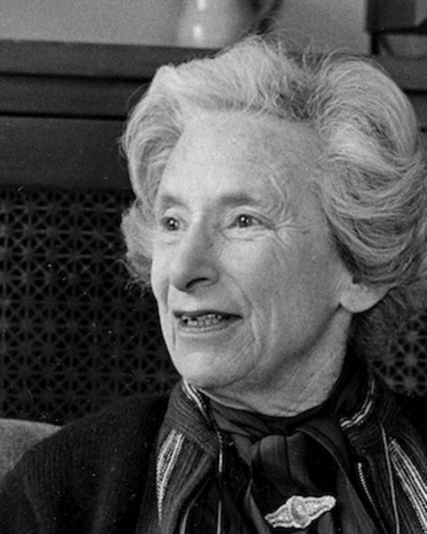 Author and historian Barbara W. Tuchman discusses her new book, 'The March of Folly,' in her home in Greenwich, Conn., May 21, 1984.  (AP Photo/Bob Child)