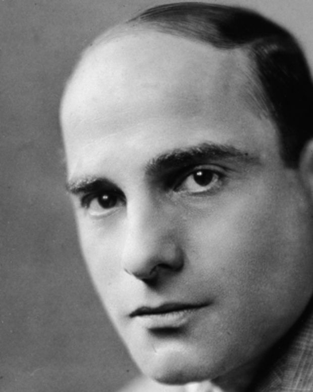 Studio portrait of American stage musical lyricist Lorenz Hart (1895 - 1943), 1930s. (Photo by Getty Images)
