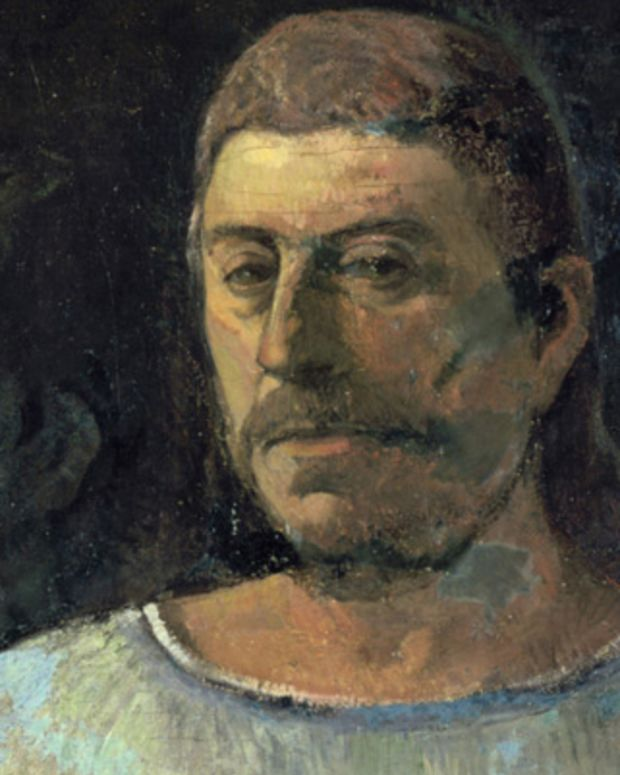 UNSPECIFIED - CIRCA 1754: Self-Portrait, 1896. Oil on canvas. Paul Gaugin (1848-1903) French Post-Impressionist painter. (Photo by Universal History Archive/Getty Images)