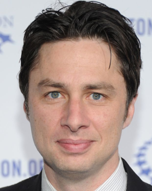 LOS ANGELES, CA - OCTOBER 14:  Actor Zach Braff arrives at The Clinton Foundation's 'A Decade Of Difference' Gala at The Hollywood Palladium on October 14, 2011 in Los Angeles, California.  (Photo by Michael Buckner/Getty Images)