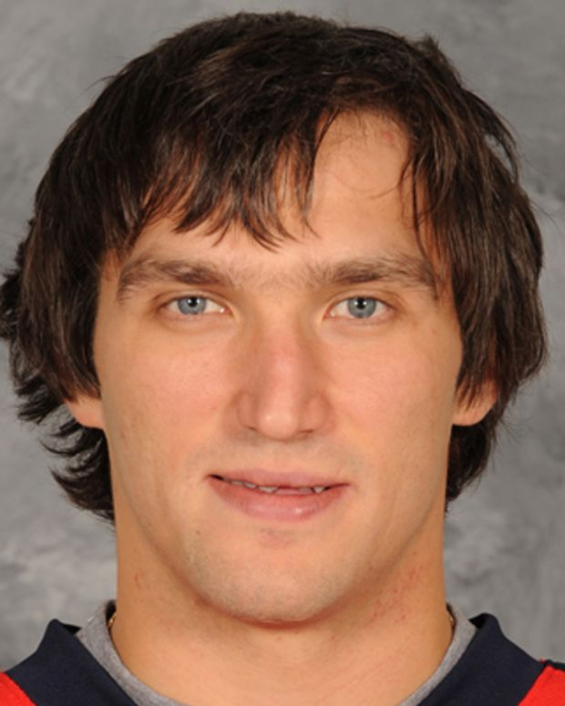 ARLINGTON, VA - SEPTEMBER 16:  Alex Ovechkin #8 of the Washington Capitals poses for his official headshot for the 2011-2012 NHL season on September 16, 2011 at the Kettler Capitals Iceplex in Arlington, Virginia (Photo by Mitchell Layton/NHLI via Getty Images)