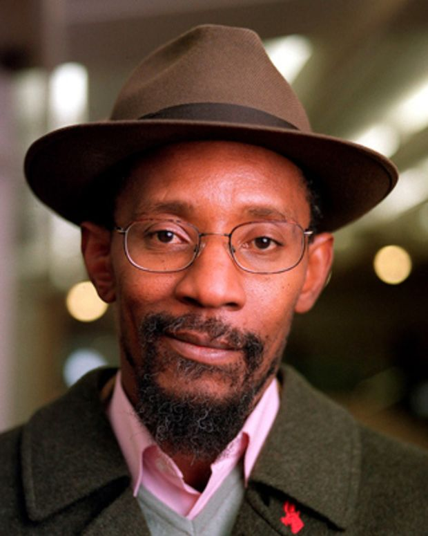 Linton Kwesi Johnson, portrait, at the Poetry Olympics circa 2000. (Photo by Michael Putland/Getty Images)