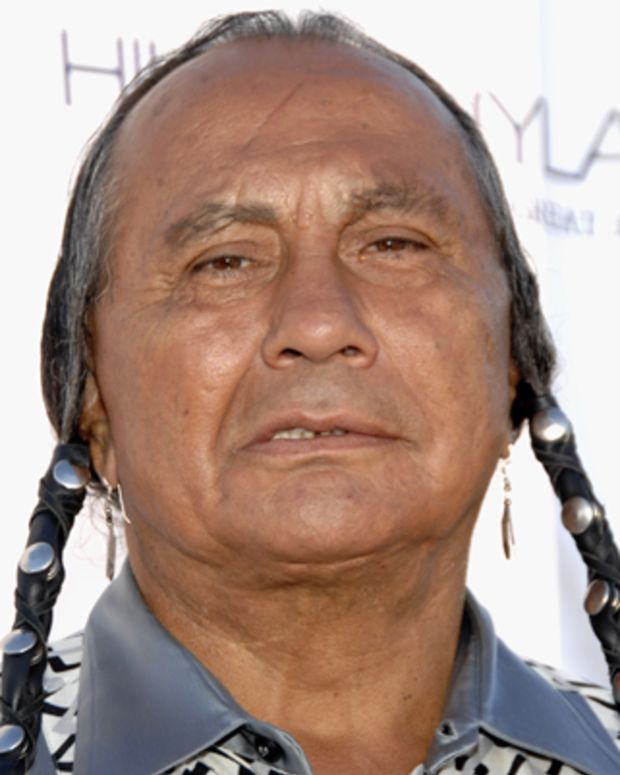 BEVERLY HILLS, CA - JULY 12:  Russell Means attends In Defense of Animals-Africa Presents 'Born To Be Wild' at the Bernheim Estate on July 12, 2007 in Beverly Hills, California. (Photo by John M. Heller/Getty Images) *** Local Caption *** Russell Means