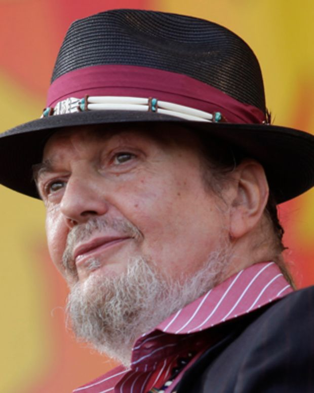 Dr John performs at the Jazz Festival on Saturday, April 28, 2012, in New Orleans, Louisiana. (Rick Scuteri/AP Images)