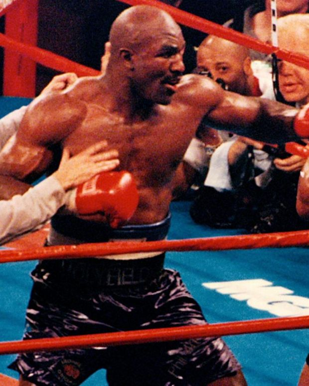Mike Tyson Bites Off Evander Holyfield's Ear