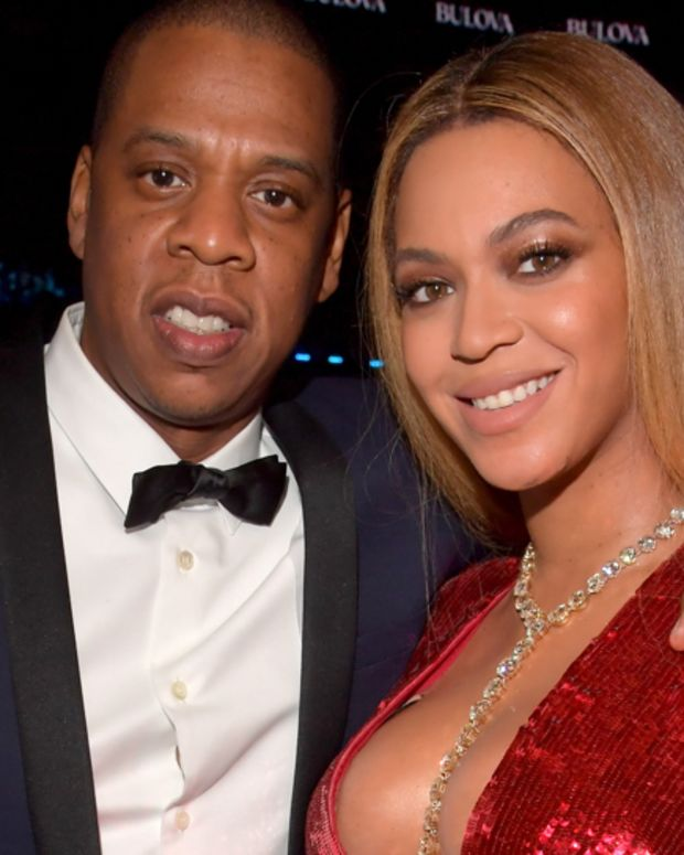 Jay-Z and Beyonce at 2017 Grammy Awards