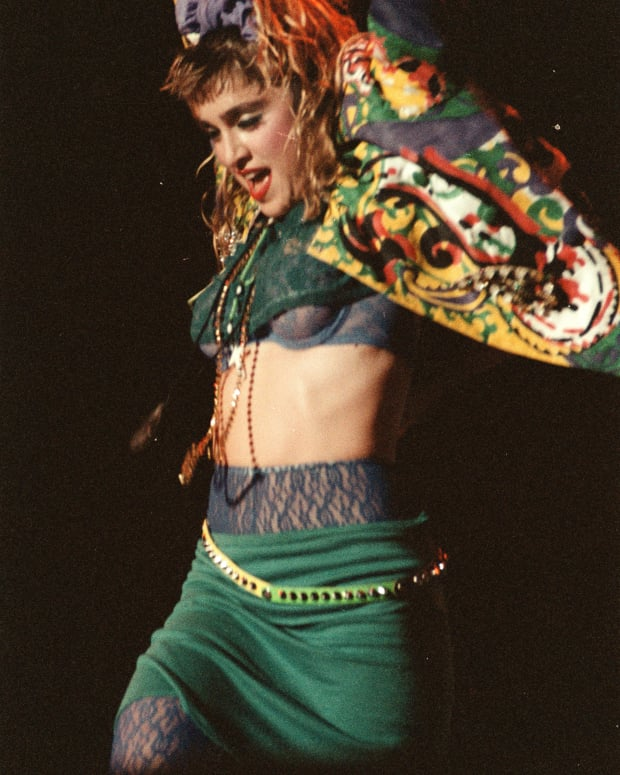 Madonna 80's: Madonna goes on 'Holiday' while performing in St. Paul, Minnesota, 1985.
