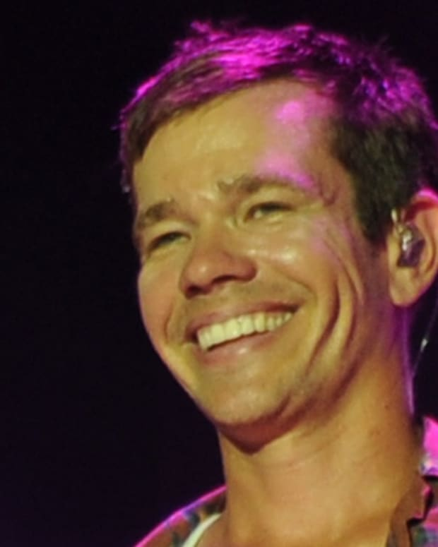 BOCA RATON, FL - SEPTEMBER 18: Nate Ruess of Fun performs At Mizner Park Amphitheater at  on September 18, 2013 in Boca Raton, Florida. (Photo by Larry Marano/Getty Images)