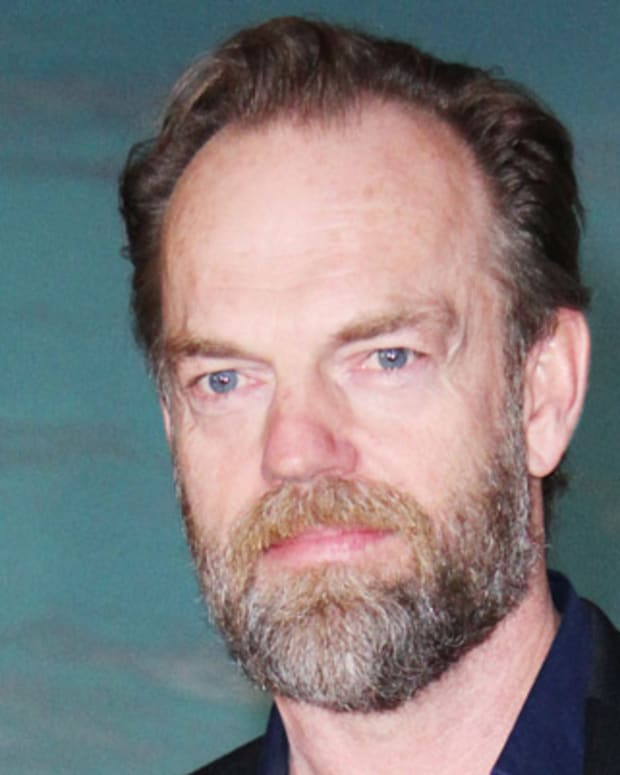 MOSCOW, RUSSIA - NOVEMBER 2:  Actor Hugo Weaving poses for photographers during the 'Cloud Atlas' film photocall at the Ukraina hotel on November 2, 2012 in Moscow, Russia. (Photo by Gennadi Avramenko/Epsilon/Getty Images)