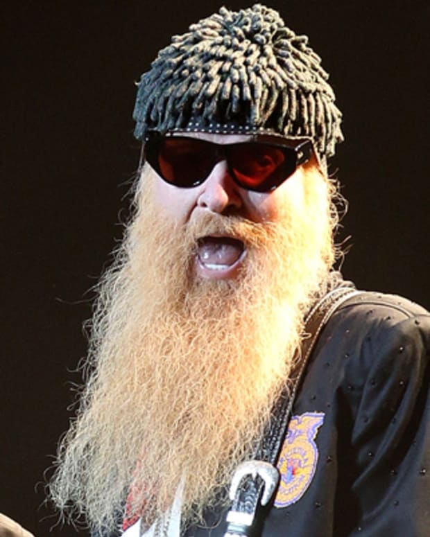 BYRON BAY, AUSTRALIA - APRIL 21:  Billy Gibbons of ZZ Top performs on stage during day one of the Bluesfest Music Festival at Tyagarah Tea Tree Farm on April 21, 2011 in Byron Bay, Australia.  (Photo by Mark Metcalfe/Getty Images) *** Local Caption *** Billy Gibbons;