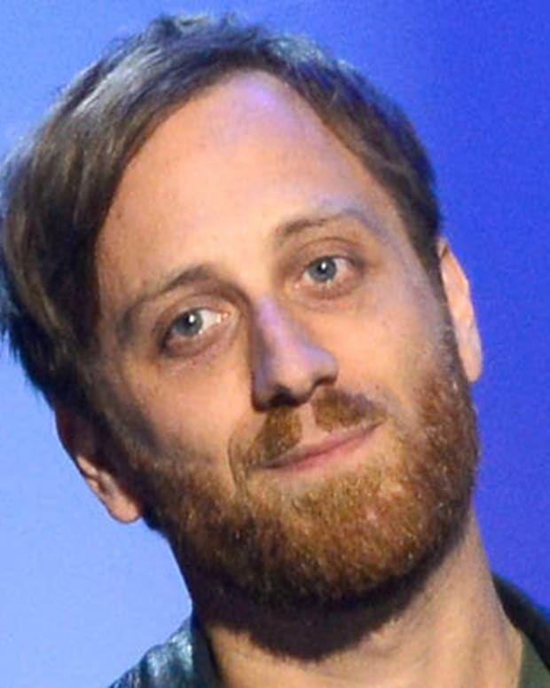 LOS ANGELES, CA - FEBRUARY 10:  Producer Dan Auerbach accepts the Producer Of The Year, Non-Classical Award onstage at the The 55th Annual GRAMMY Awards at Nokia Theatre on February 10, 2013 in Los Angeles, California.  (Photo by Kevork Djansezian/Getty Images)