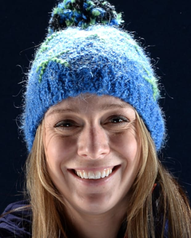 WEST HOLLYWOOD, CA - APRIL 25:  Freestyle skier Hannah Kearney poses for a portrait during the USOC Portrait Shoot on April 25, 2013 in West Hollywood, California.  (Photo by Harry How/Getty Images) *** Local Caption *** Hannah Kearney