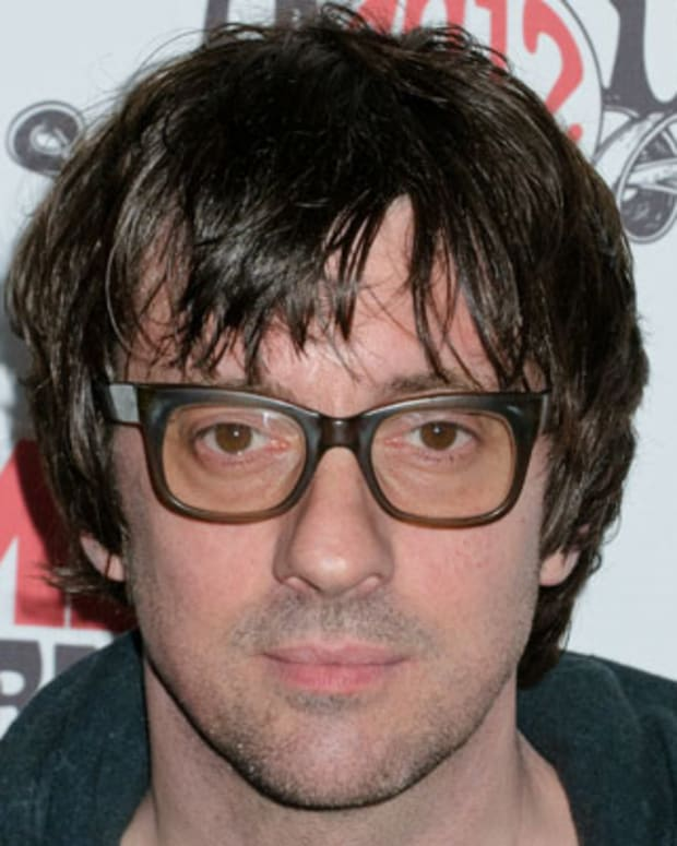 LONDON, ENGLAND - FEBRUARY 29:  Graham Coxon arrives at NME Awards at Brixton Academy on February 29, 2012 in London, England.  (Photo by Ben Pruchnie/Getty Images)
