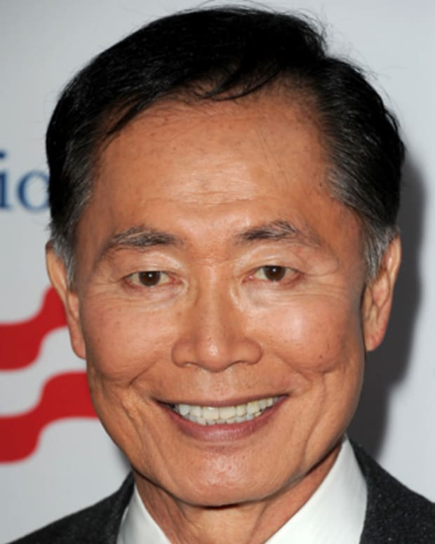 LOS ANGELES, CA - MARCH 03:  Actor George Takei arrives at the premiere of '8' presented by The American Foundation For Equal Rights & Broadway Impact at The Wilshire Ebell Theatre on March 3, 2012 in Los Angeles, California.  (Photo by Kevin Winter/Getty Images)