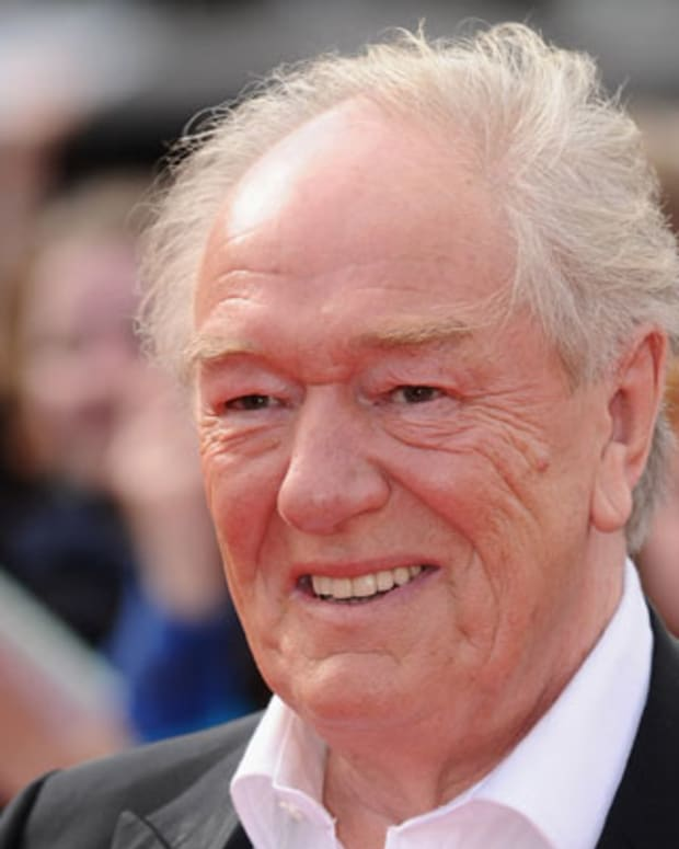 LONDON, ENGLAND - JULY 07:  Actor Michael Gambon attends the World Premiere of Harry Potter and The Deathly Hallows - Part 2 at Trafalgar Square on July 7, 2011 in London, England.  (Photo by Ian Gavan/Getty Images)