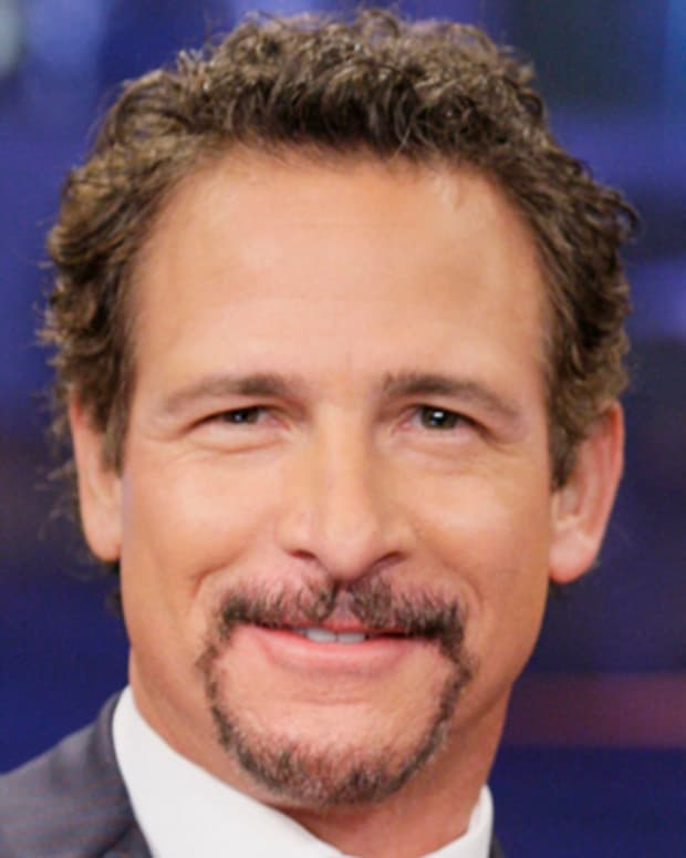THE TONIGHT SHOW WITH JAY LENO -- Episode 4368 -- Pictured: Sports talk show host Jim Rome during an interview on December 7, 2012 -- (Photo by: Paul Drinkwater/NBC/NBCU Photo Bank via Getty Images)