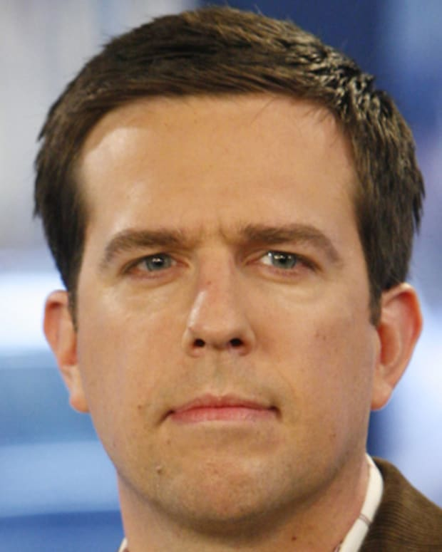 TODAY -- Pictured: Actor Ed Helms talks about his role on NBC's 'The Office' on NBC News' 'Today' on September 27, 2007-- Photo by: Heidi Gutman/NBC NewsWire