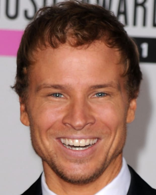 LOS ANGELES, CA - NOVEMBER 21:  Singer Brian Littrell of the group Backstreet Boys arrives at the 2010 American Music Awards held at Nokia Theatre L.A. Live on November 21, 2010 in Los Angeles, California.  (Photo by Jason Merritt/Getty Images for DCP) *** Local Caption *** Brian Littrell