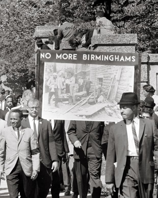 Birmingham Civil Rights March in 1963 Photo Courtesy Library of Congress