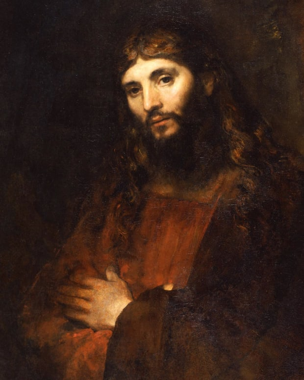 Jesus Christ painting by Rembrandt photo